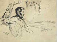 Пушкин в Михайловском.
