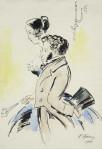 Пушкин с женой.