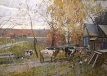 Деревенский пейзаж.  х.м. 80х120 см. 2009г. Копняк .В.