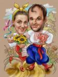 Шарж семья украинцев