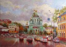 Никитский К. Андреевская площадь. х.м. 50х70 см. 2013 г.