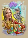 Царица шарж